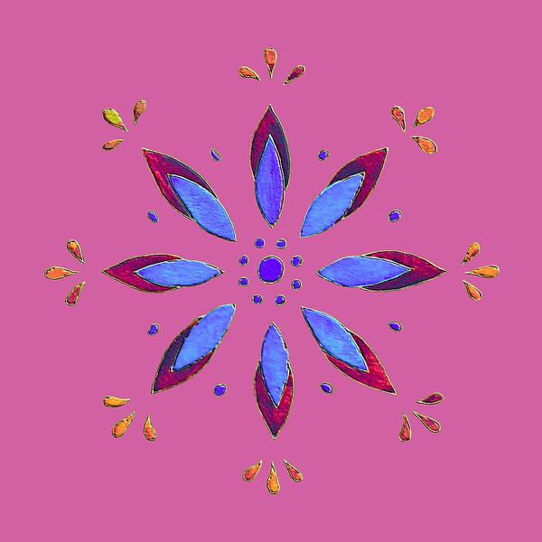Mixed Media - Flower On Pink by Elizabeth Lock