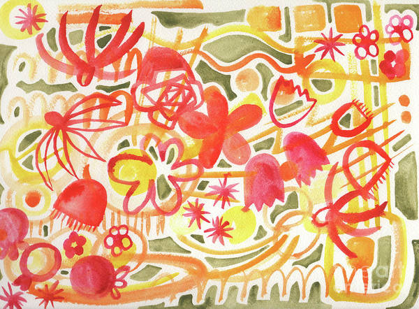 Wall Art - Painting - Flower Parade by Kristy Lankford