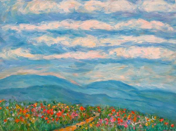 Painting - Flower Path To The Blue Ridge by Kendall Kessler