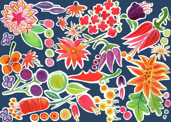 Red Poppy Mixed Media - Flower Pattern by Kristy Lankford