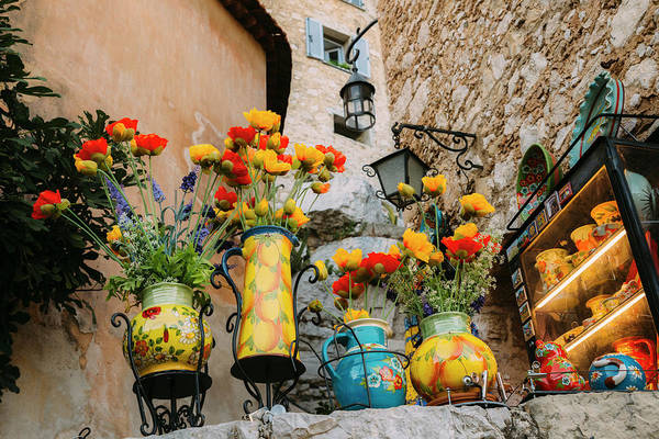 Photograph - Flower Pots In Provencal Town by Alexandre Rotenberg