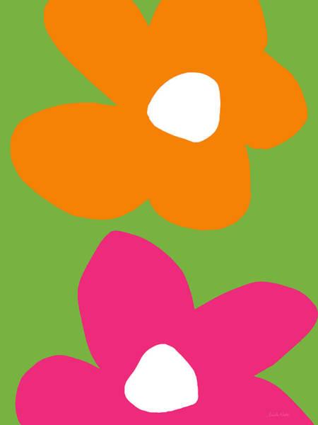 Pink Daisy Wall Art - Digital Art - Flower Power 5- Art By Linda Woods by Linda Woods