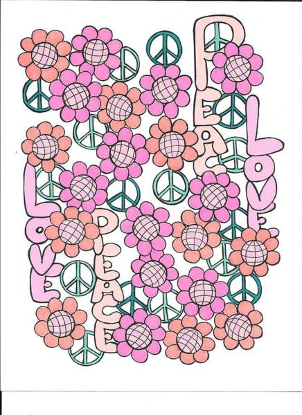 Drawing - Flower Power 8 by Roberta Dunn