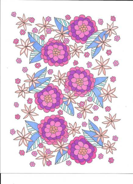Drawing - Flower Power 9 by Roberta Dunn