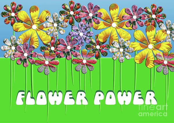 Digital Art - Flower Power by Barefoot Bodeez Art