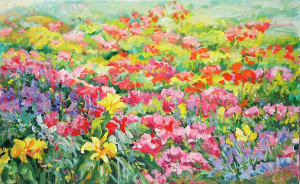 Painting - Flower Power by Ingrid Dohm