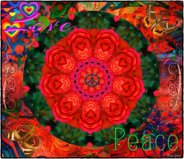 Photograph - Flower Power Kaleidoscope by Anna Louise