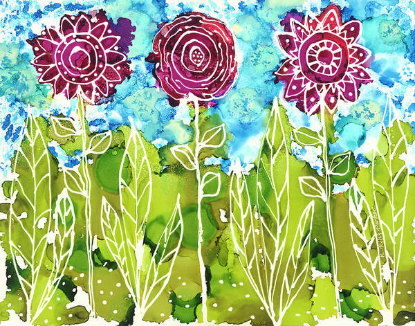 Painting - Flower Power by Kathryn Riley Parker