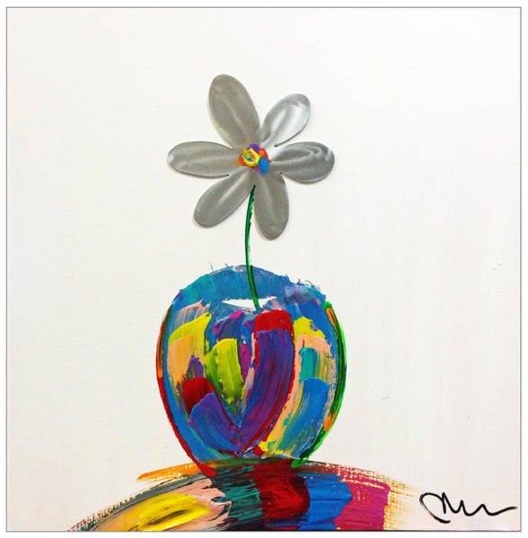 Decorative Wall Art - Painting - Flower Power by Mac Worthington