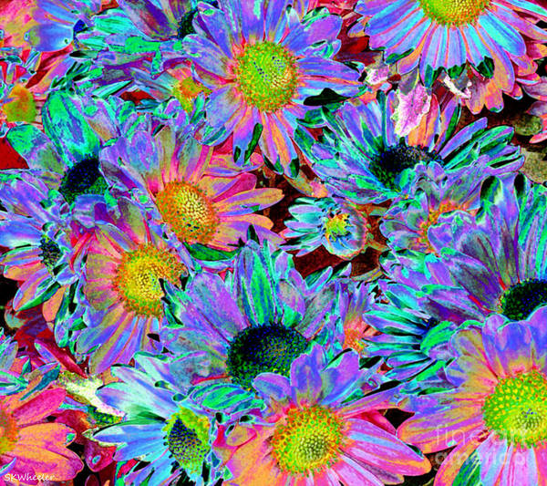 Blacklight Photograph - Flower Power by Sabrina K Wheeler