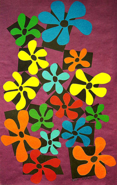 Tapestry - Textile - Flower Power by Teddy Campagna
