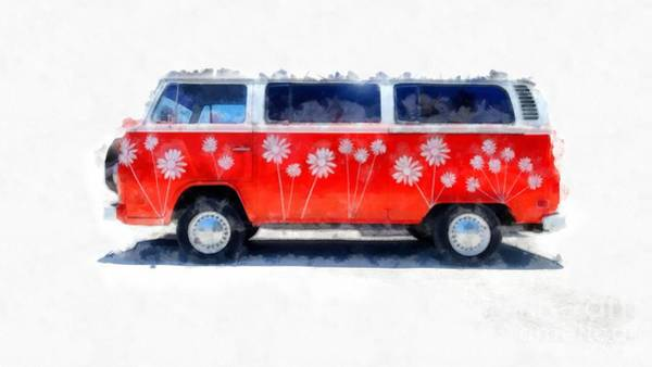 Wall Art - Photograph - Flower Power Van by Edward Fielding