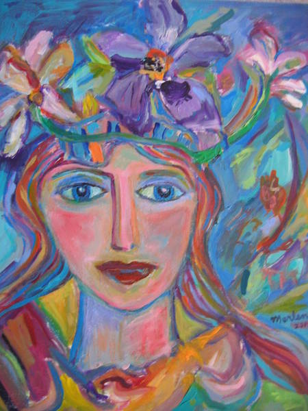 Painting - Flower Princess by Marlene Robbins