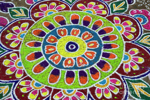 Photograph - Flower Rangoli by Tim Gainey