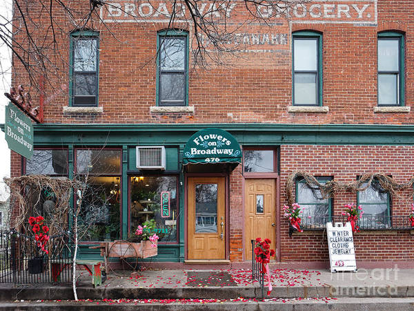 Photograph - Flower Shop Brick Building Winona Mn by Kari Yearous