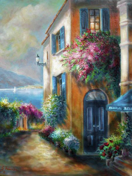 Wall Art - Painting - Flower Shop By The Sea by Regina Femrite