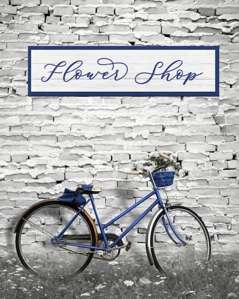 Brick House Mixed Media - Flower Shop by Lori Deiter