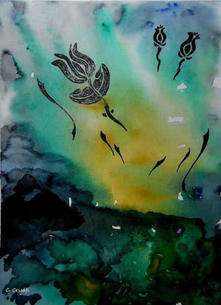 Painting - Flower Silhouette 2 by Carol Crisafi