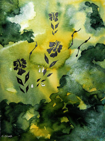 Painting - Flower Silhouette 3 by Carol Crisafi