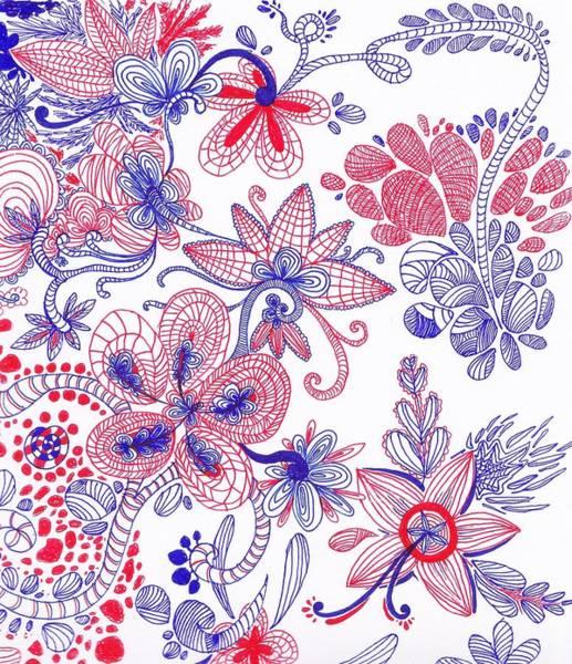 Vegan Drawing - Flower Spirit by Melanie Sastria