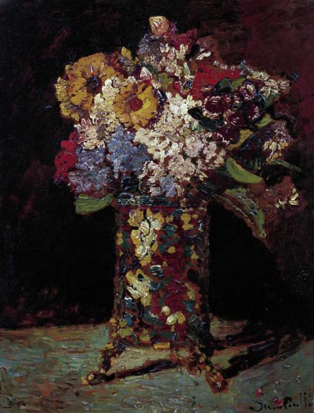 Painting - Flower Still Life  by Joseph Thomas Monticelli
