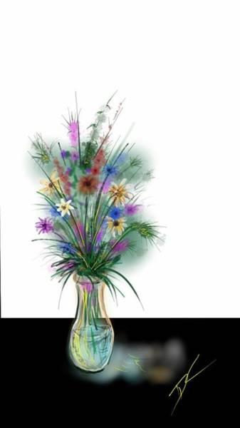 Digital Art - Flower Study One by Darren Cannell