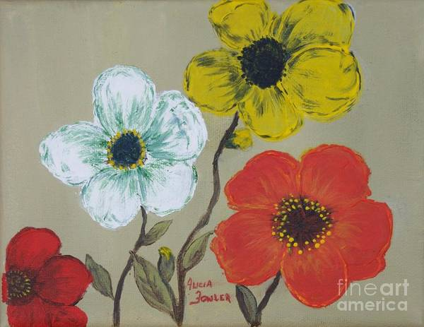 Painting - Flower Trio by Alicia Fowler