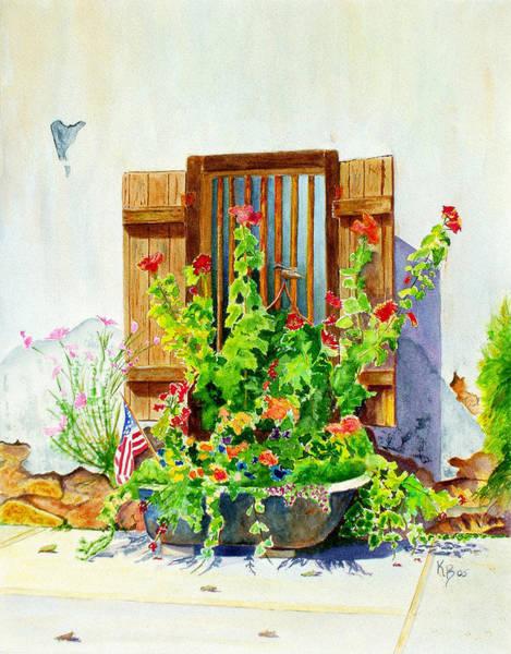 Painting - Flower Tub by Karen Fleschler