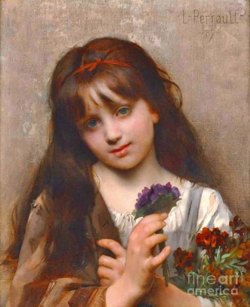 Wall Art - Photograph - Flower Vendor 1874 by Padre Art