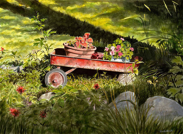 Wall Art - Painting - Flower Wagon by Tom Hedderich