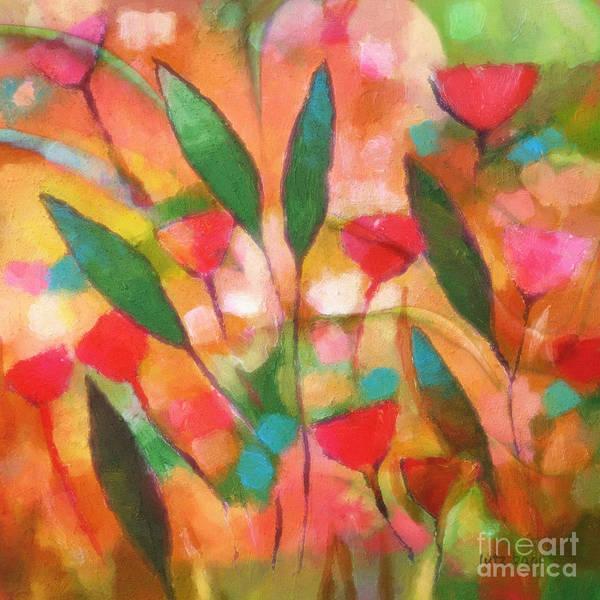 Painting - Flowerflow by Lutz Baar