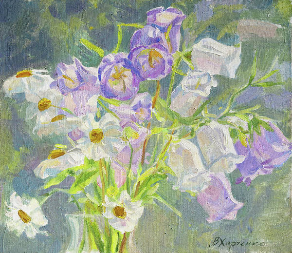 Wall Art - Painting - Flowering In July by Victoria Kharchenko