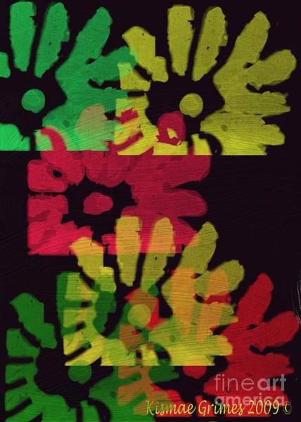 Grime Digital Art - Flowerkiss by Kismae Grimes