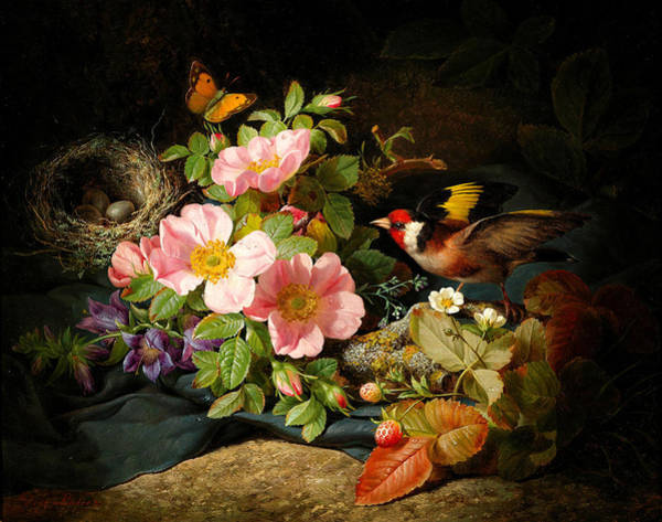 Painting - Flowers , Still Life by Celestial Images