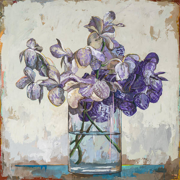 Floral Still Life Painting - Flowers #1 by David Palmer
