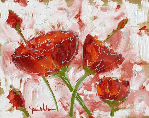 Painting - Flowers #1 by Jeanie Watson