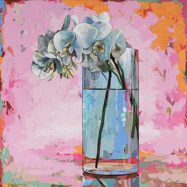Pink Flowers Painting - Flowers #17 by David Palmer