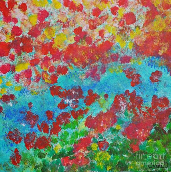 Painting - Flowers And Creek by Chani Demuijlder