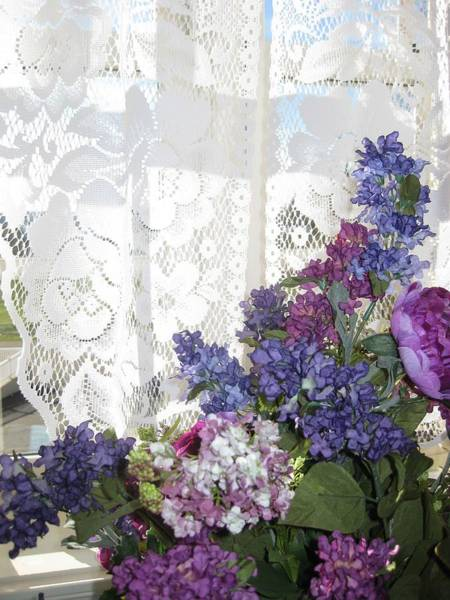 Photograph - Flowers And Lace by Carolyn Jacob