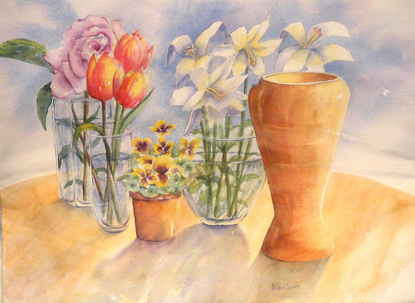 Flowers And Terra Cotta Art Print