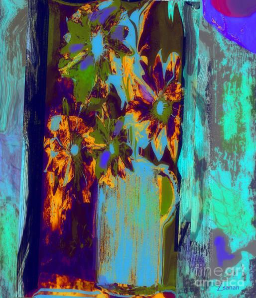 Shooting Mixed Media - Flowers Beneath A Bleeding Sun by Zsanan Studio