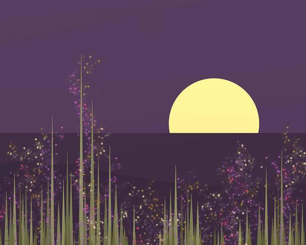 Digital Art - Flowers Blooming At Night by Val Arie