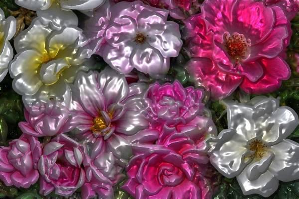 Digital Art - Flowers By Artful Oasis 1 by Artful Oasis