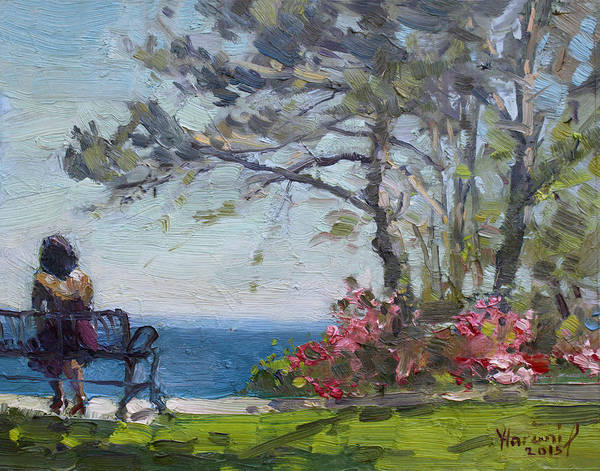 Wall Art - Painting - Flowers By Lake Ontario by Ylli Haruni