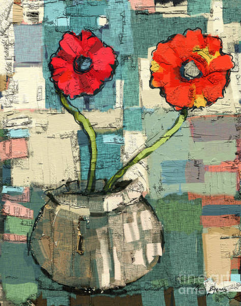 Subtle Painting - Flowers by Carrie Joy Byrnes