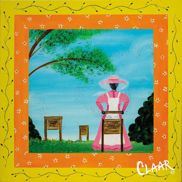 Gullah People Wall Art - Painting - Flowers Farm Honey by Samantha Claar