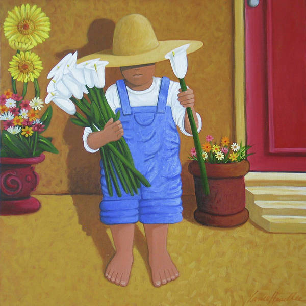 Painting - Flowers For A Friend by Lance Headlee