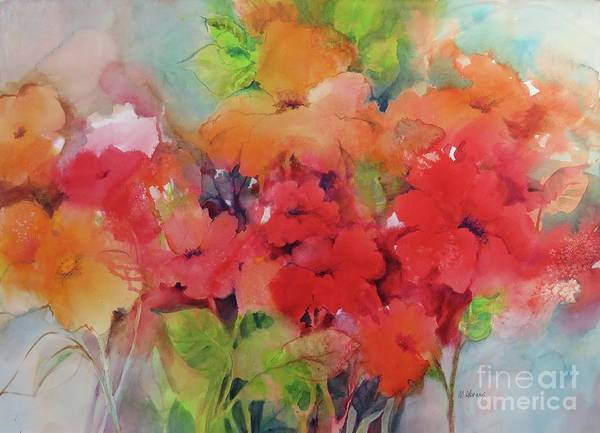 Painting - Flowers For Peggy by Michelle Abrams