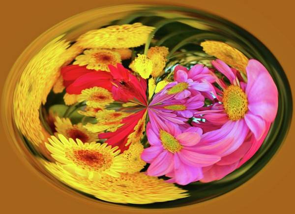 Photograph - Flowers In A Bubble by Cynthia Guinn
