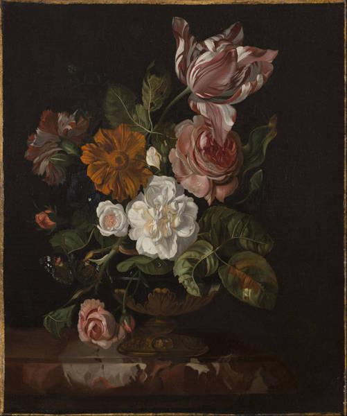 Wall Art - Painting - Flowers In A Vase Ca. 1690s by Rachel Ruysch